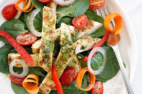 Chicken Spinach Salad  Grilled Chicken and Spinach Salad with Balsamic