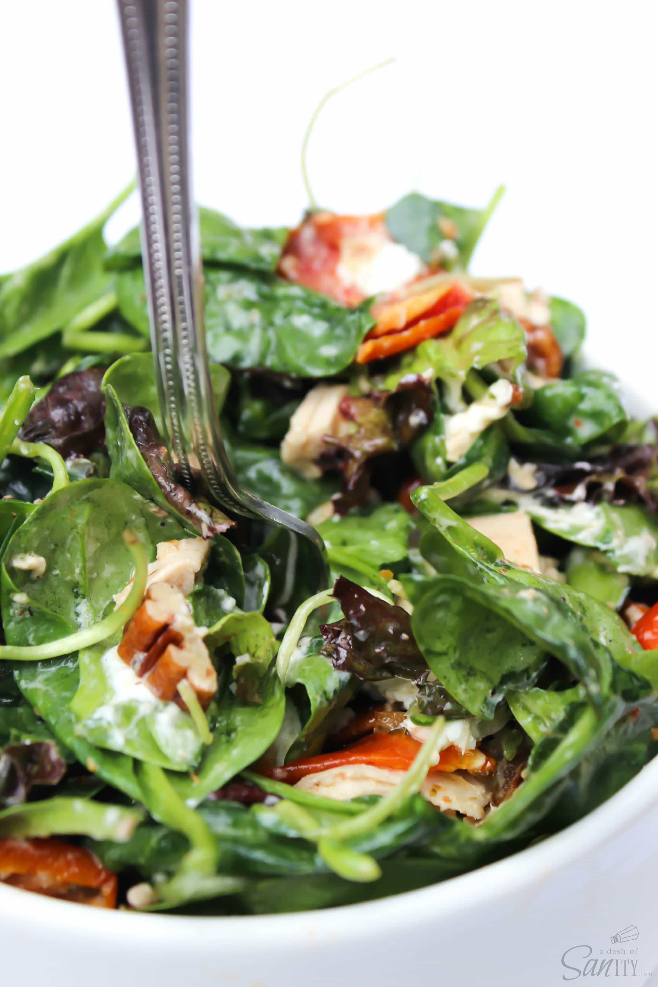 Chicken Spinach Salad  Chicken & Spinach Salad with Lemon Vinaigrette