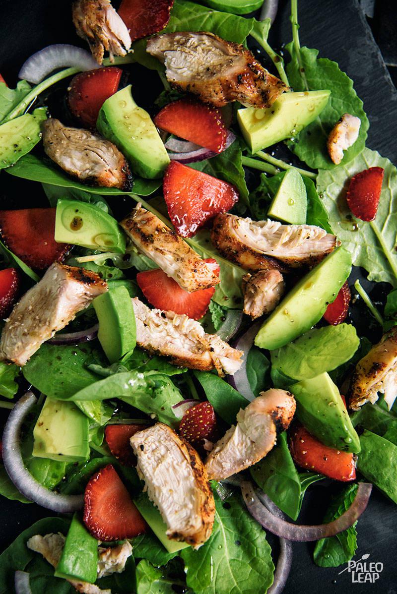 Chicken Spinach Salad  Chicken Strawberry Avocado And Spinach Salad
