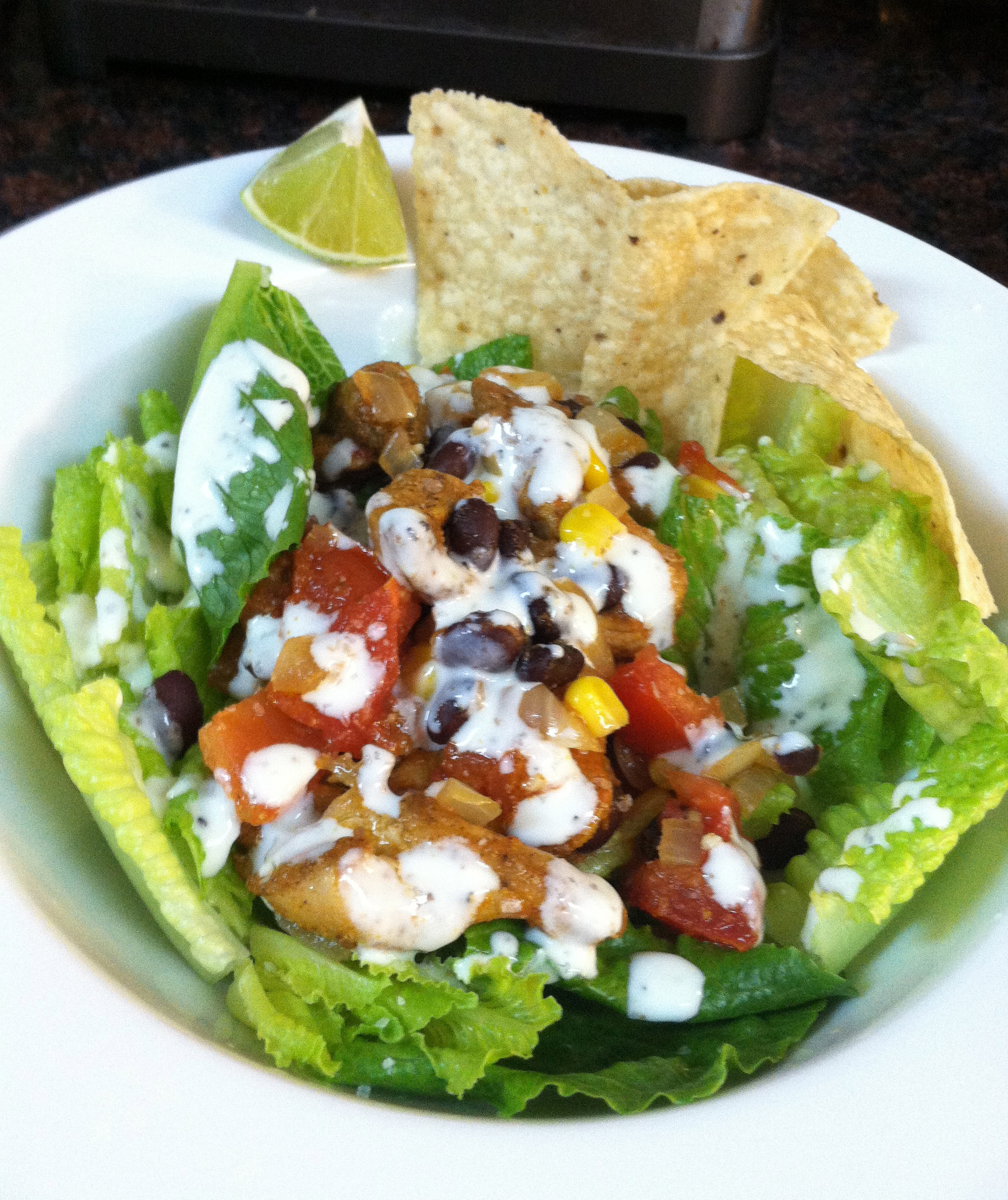 Chicken Taco Salad Recipe  Chicken Taco Salad Recipe with Creamy Lime Dressing