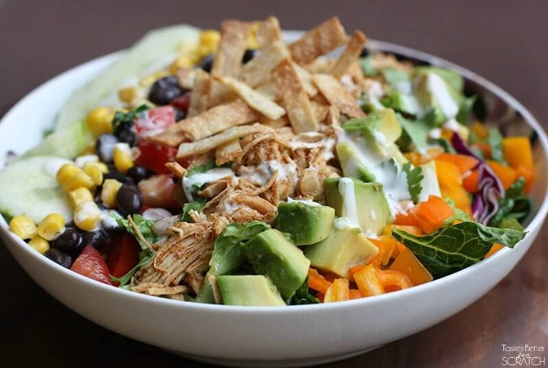 Chicken Taco Salad Recipe  Shredded Chicken Taco Salad I Heart Nap Time