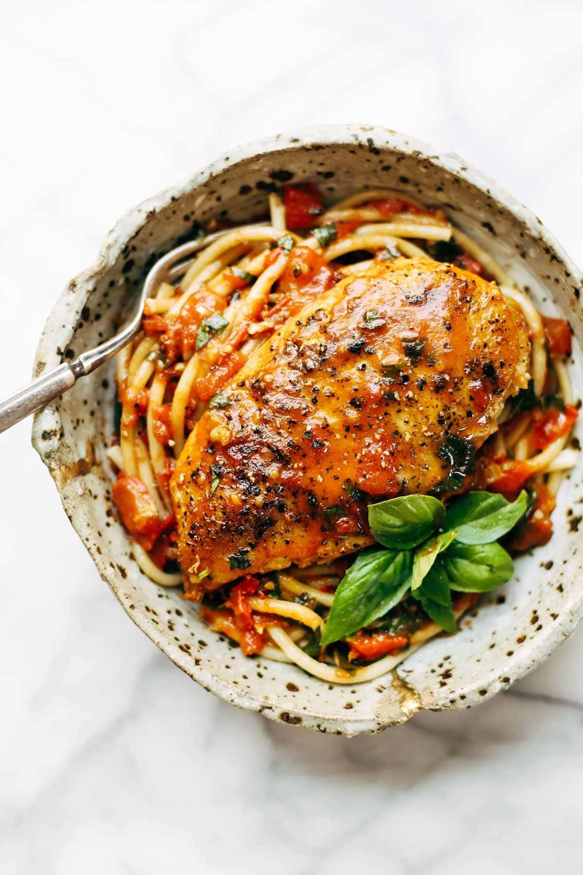 Chicken Tomato Recipe  Garlic Basil Chicken with Tomato Butter Sauce Recipe