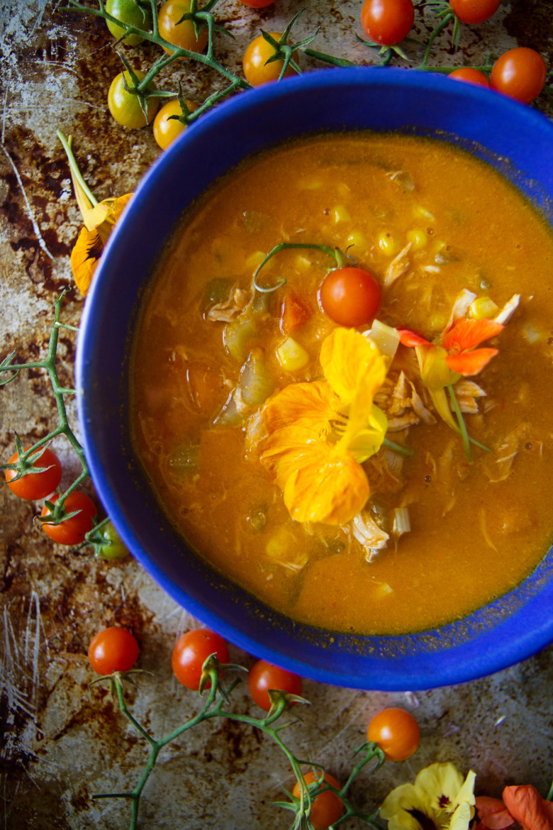 Chicken Tomato Soup  Tomato Chicken Ve able Soup