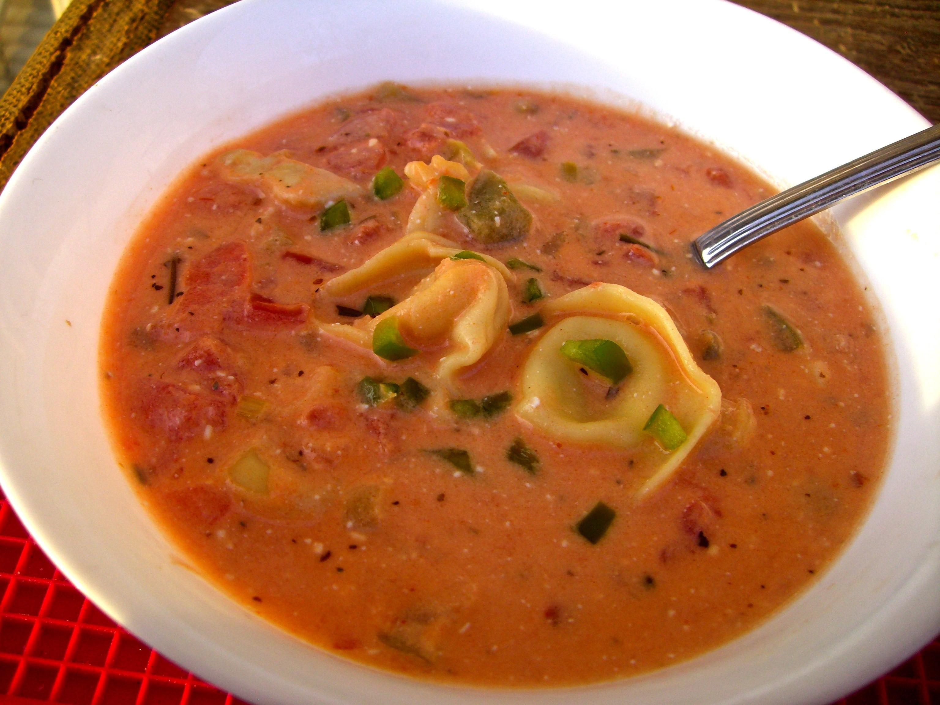 Chicken Tomato Soup  Tomato & Chicken Tortellini Soup