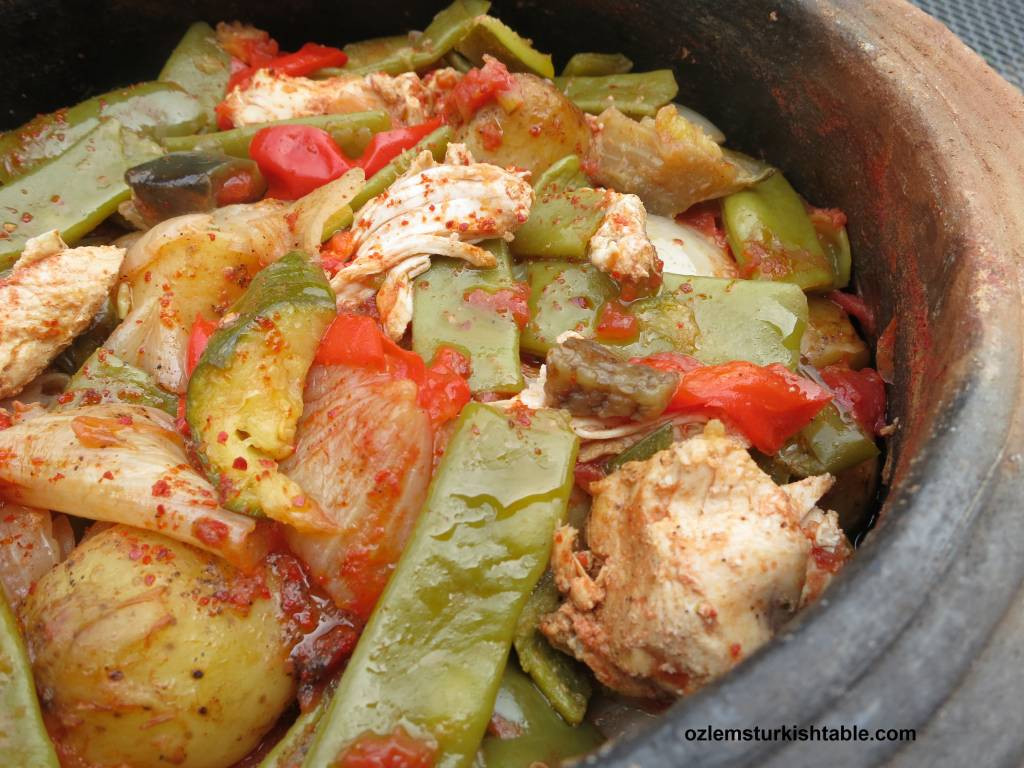 Chicken Vegetable Stew  Tavuk Guvec Turkish Chicken and Ve able Stew in