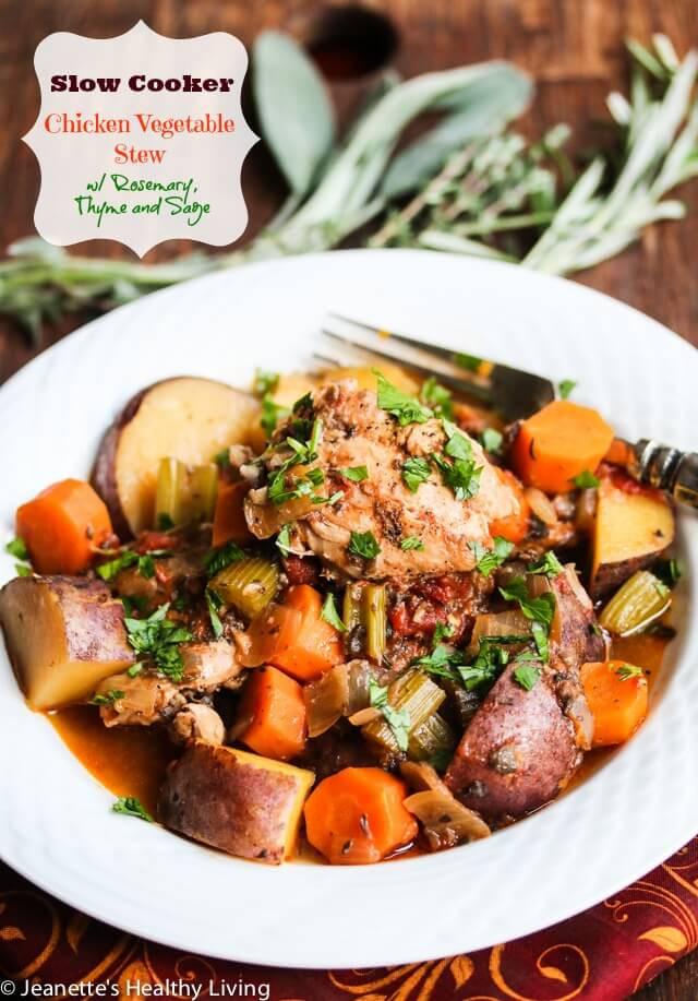 Chicken Vegetable Stew  healthy slow cooker chicken stew