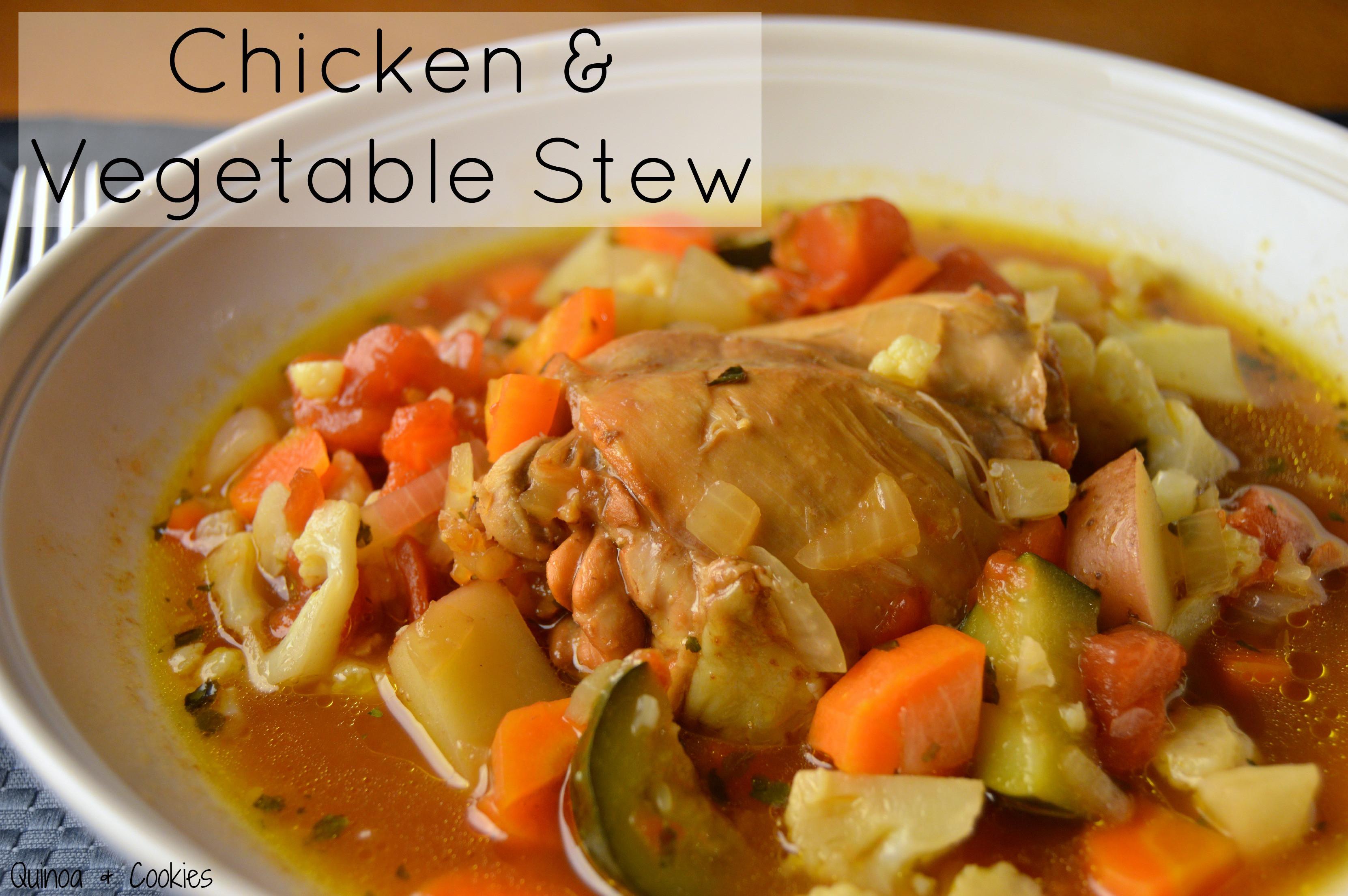 Chicken Vegetable Stew  Q is for Qatar Chicken Saloona Chicken & Ve able Stew