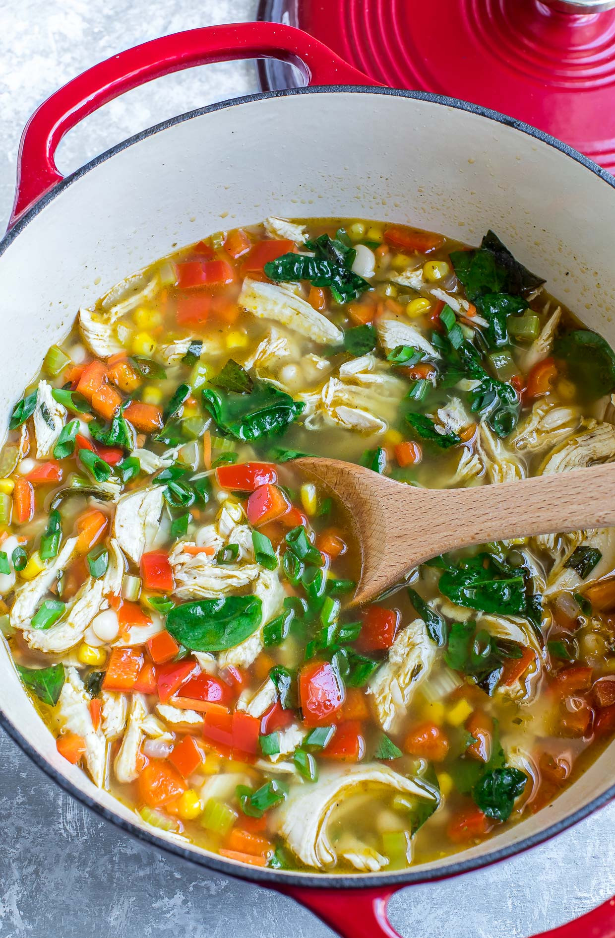 Chicken Veggie Soup  e Pot Chicken and Ve able Soup Peas And Crayons
