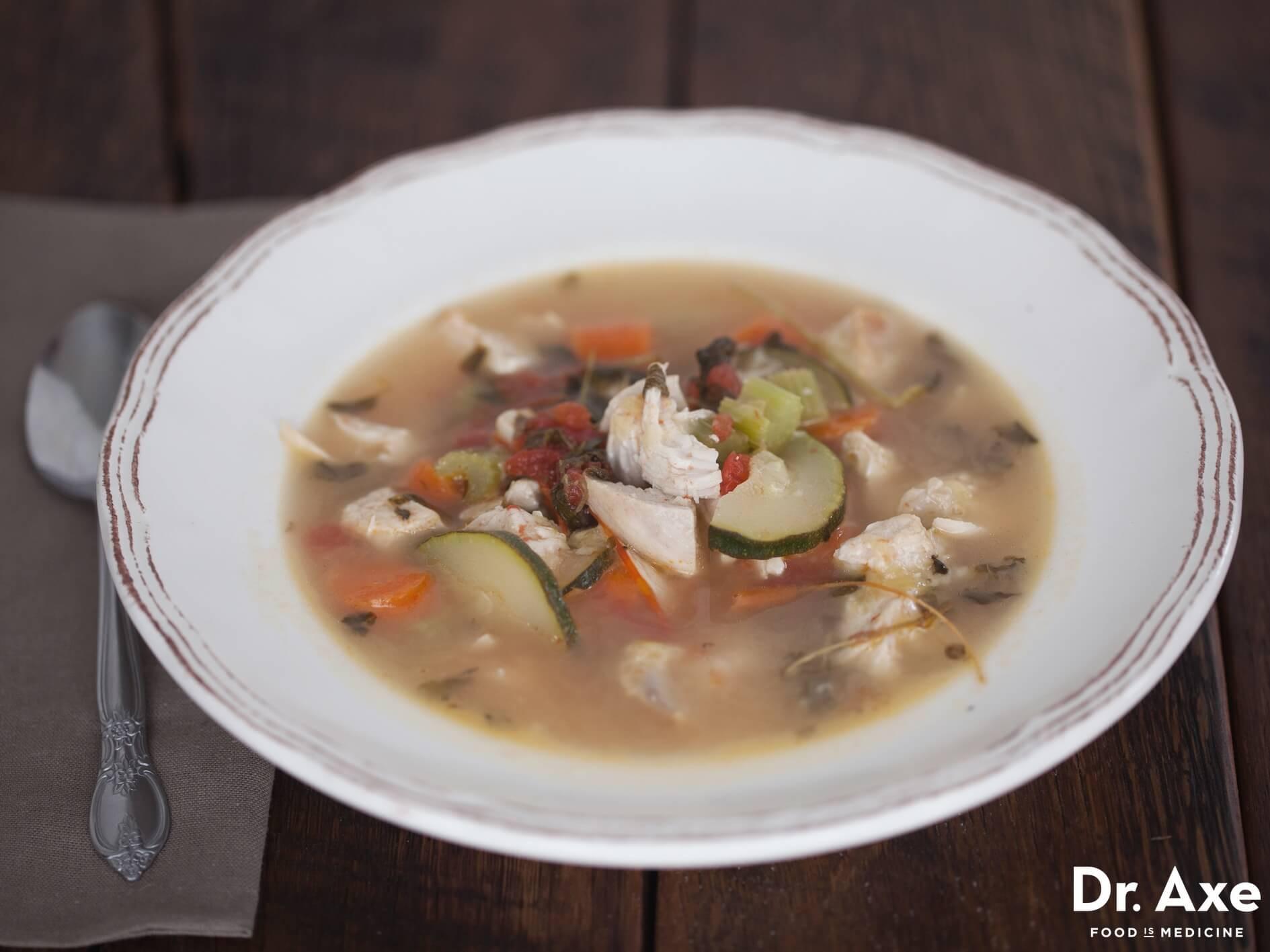 "Chicken Veggie Soup  Turmeric Tea Recipe ""Liquid Gold"" Dr Axe"