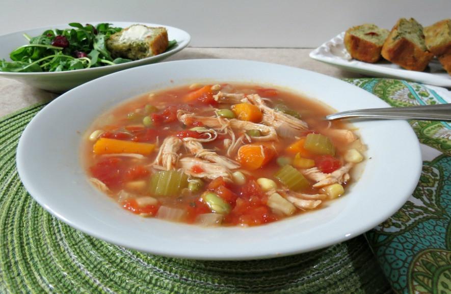 Chicken Veggie Soup  Chicken Ve able Soup Weekly Recap