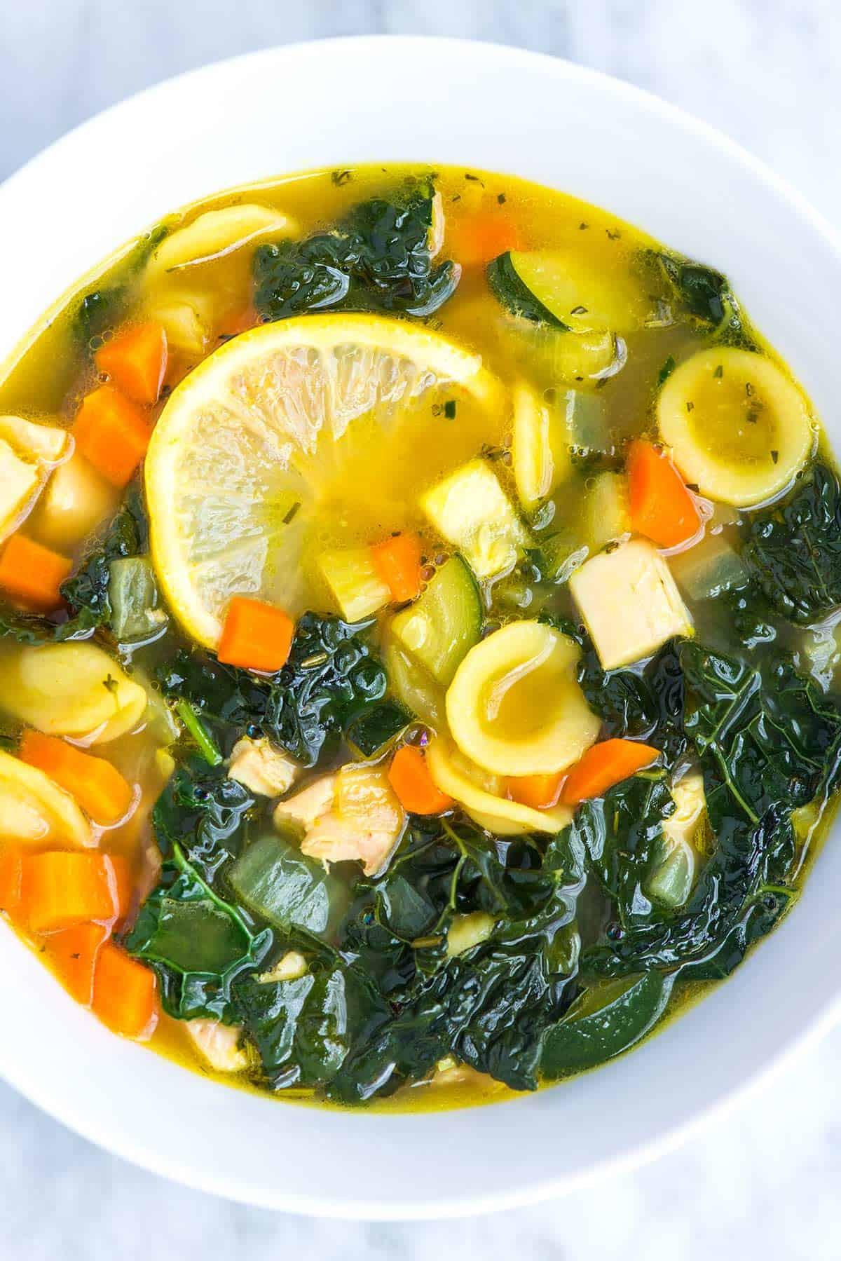 Chicken Veggie Soup  Lemony Chicken Ve able Soup Recipe