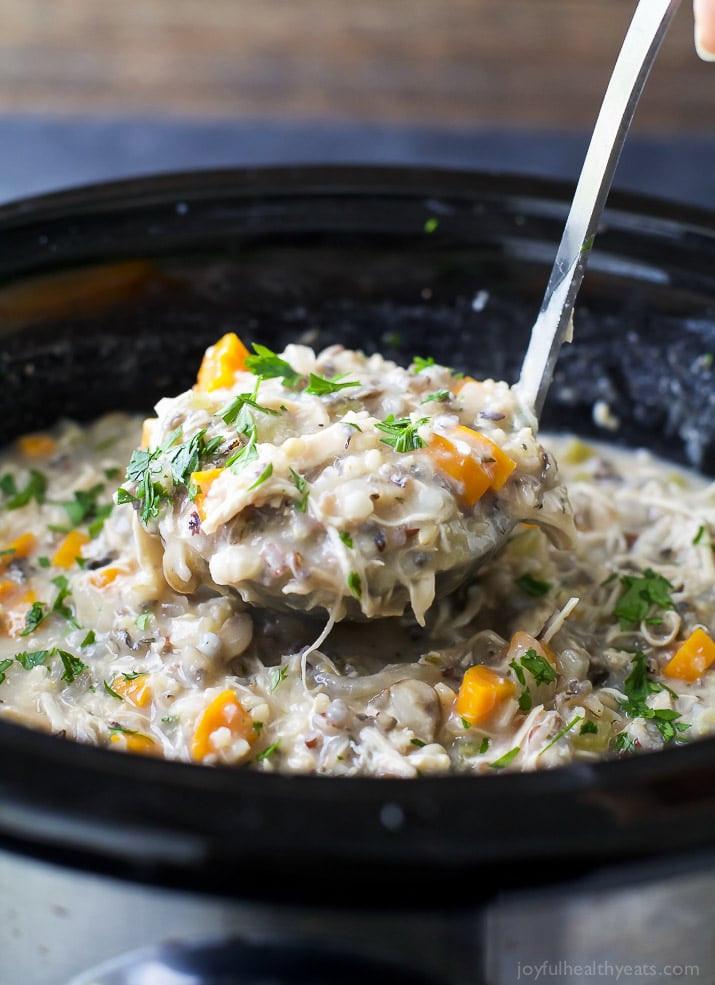 Chicken Wild Rice Soup Recipe  Crock Pot Chicken & Wild Rice Soup