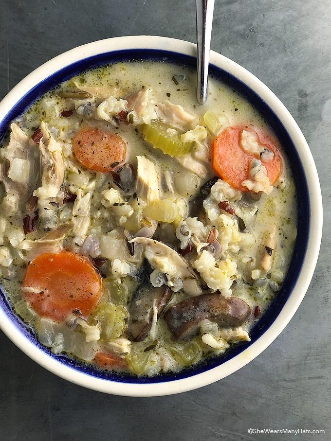 Chicken Wild Rice Soup Recipe  Creamy Chicken Wild Rice Soup Recipe