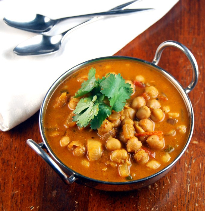 Chickpea Recipes Indian  South Indian Chickpea Curry • Vegan Recipes • Holy Cow