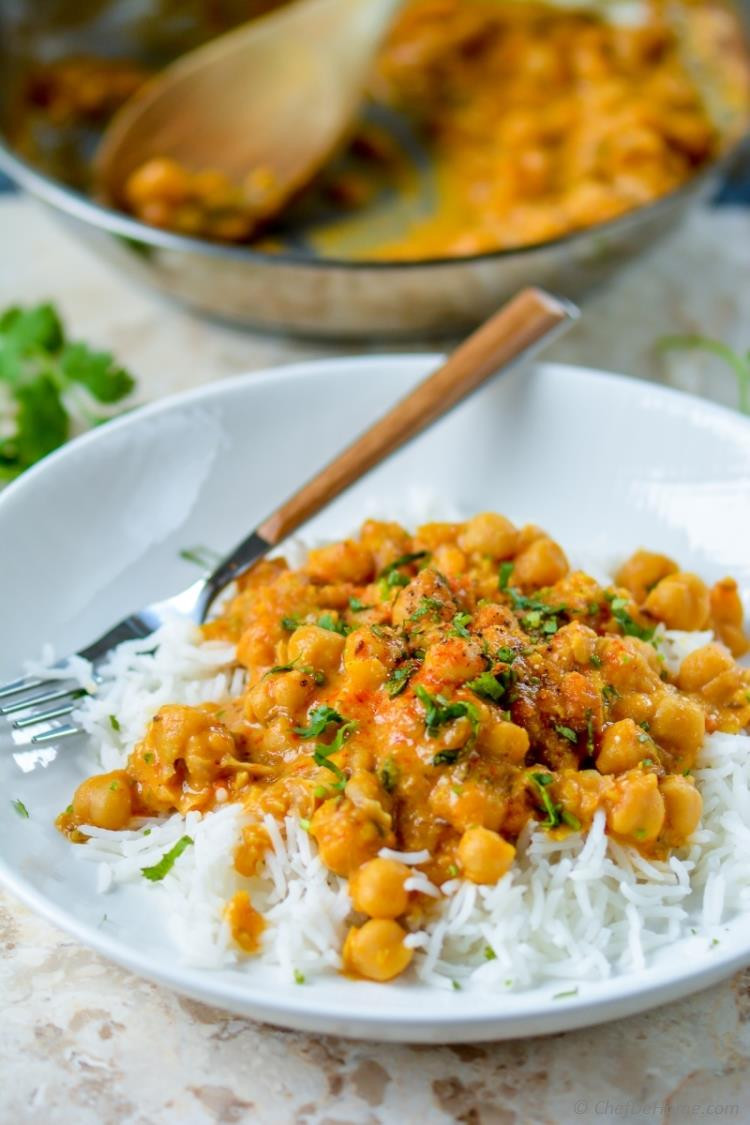 Chickpea Recipes Indian  Easy Chickpea Curry with Basmati Rice Recipe