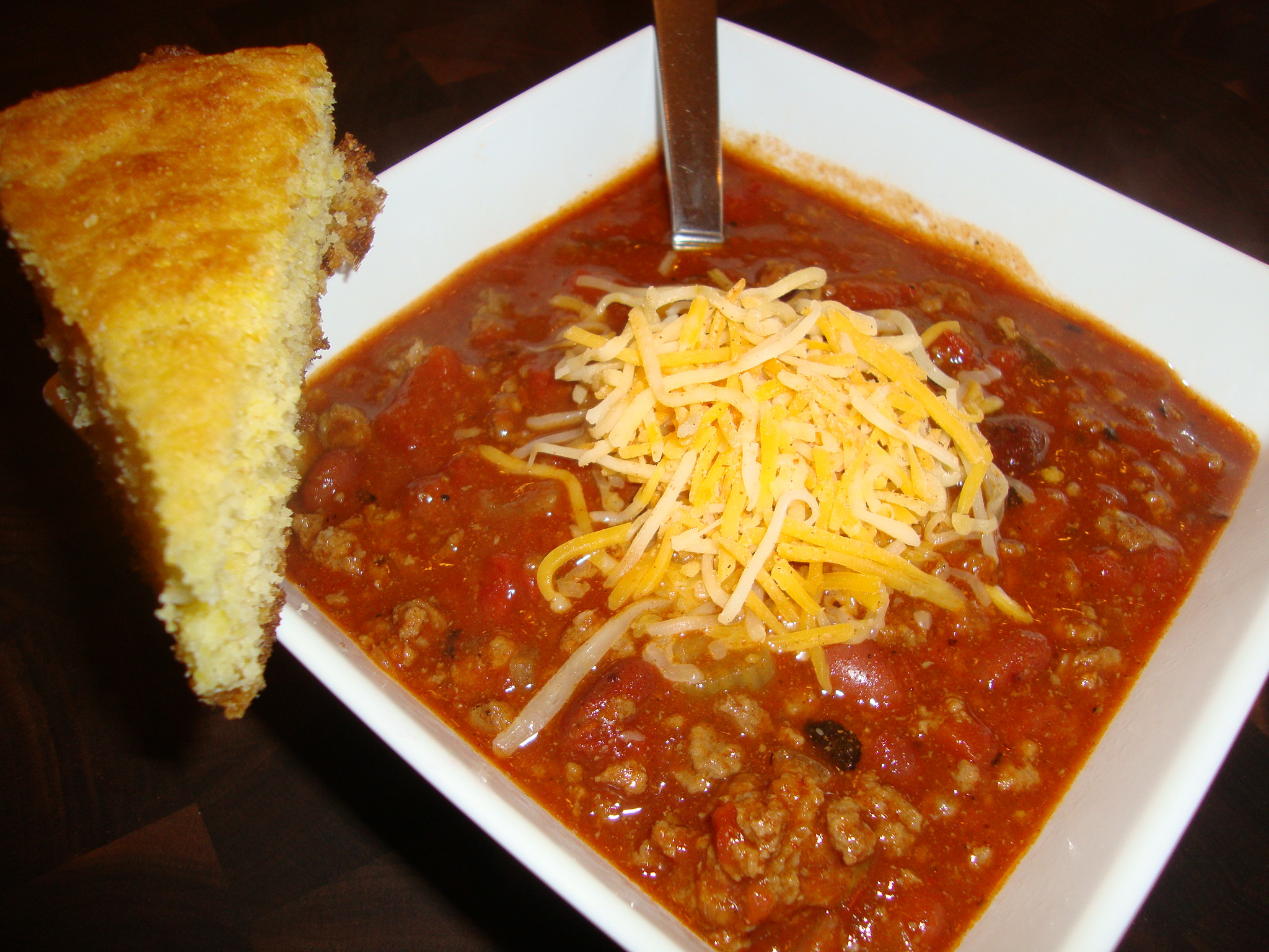 Chili And Cornbread  Chili and Skillet Cornbread