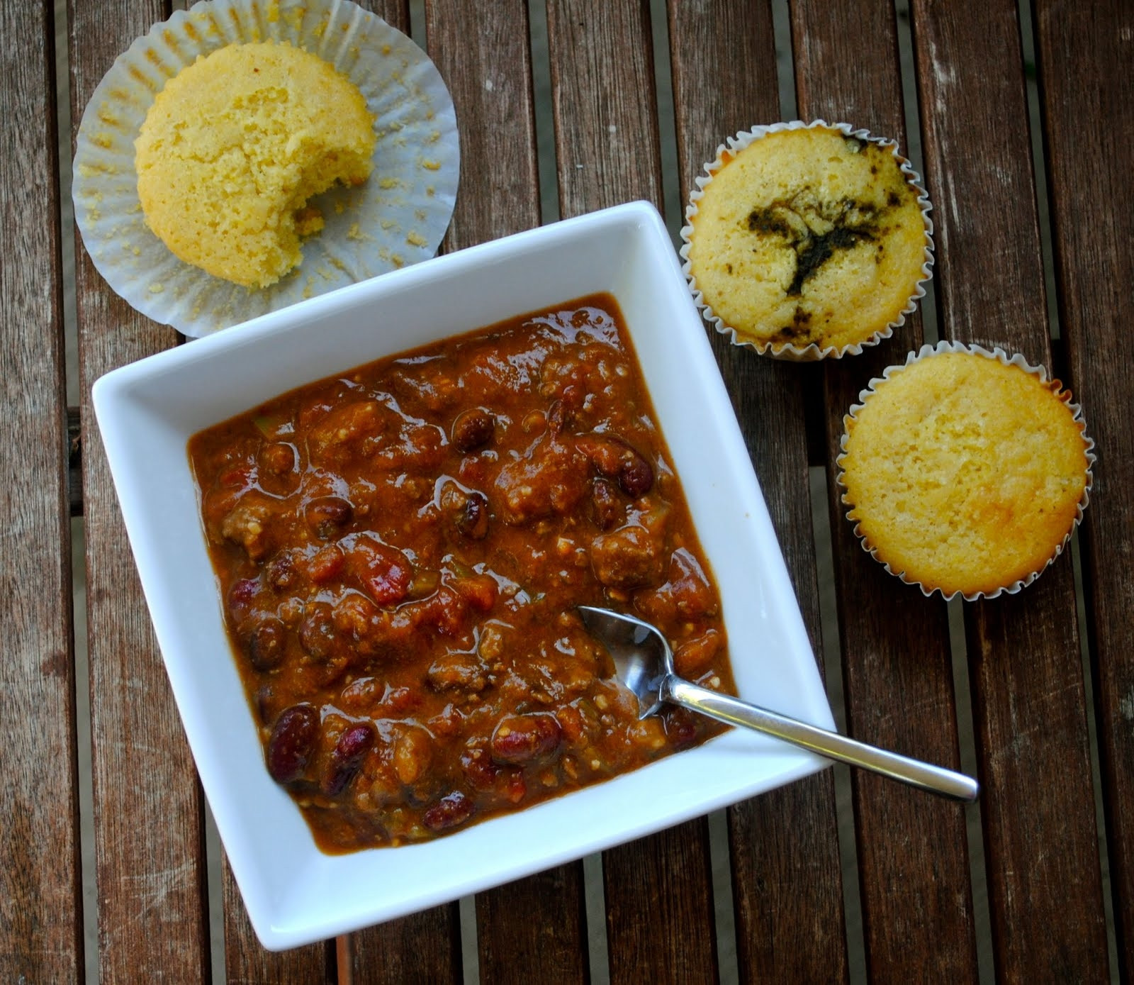 Chili And Cornbread  Pumpkin Chili and Cornbread
