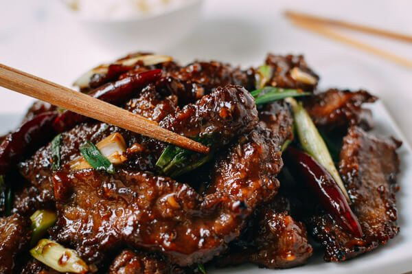 "Chinese Beef Recipes  Mongolian Beef Recipe An ""Authentic"" version The Woks"