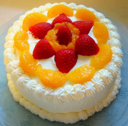 """Chinese Sponge Cake  Chinese Sponge Cake aka """"Chinese Birthday Cake"""""""