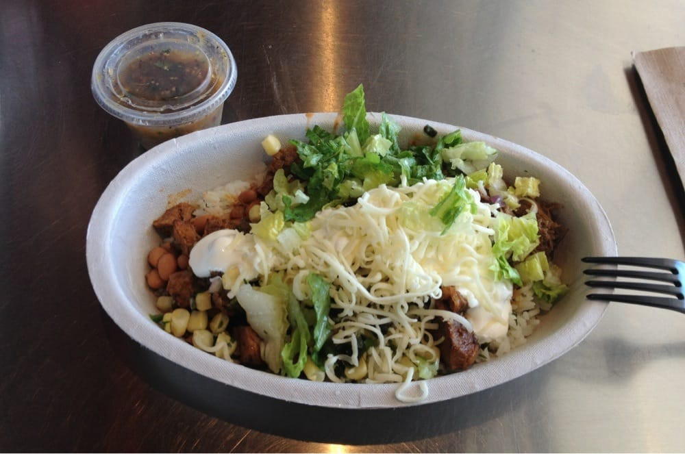 Chipotle Mexican Grill White Rice  Burrito Bowl steak cilantro lime rice pinto beans