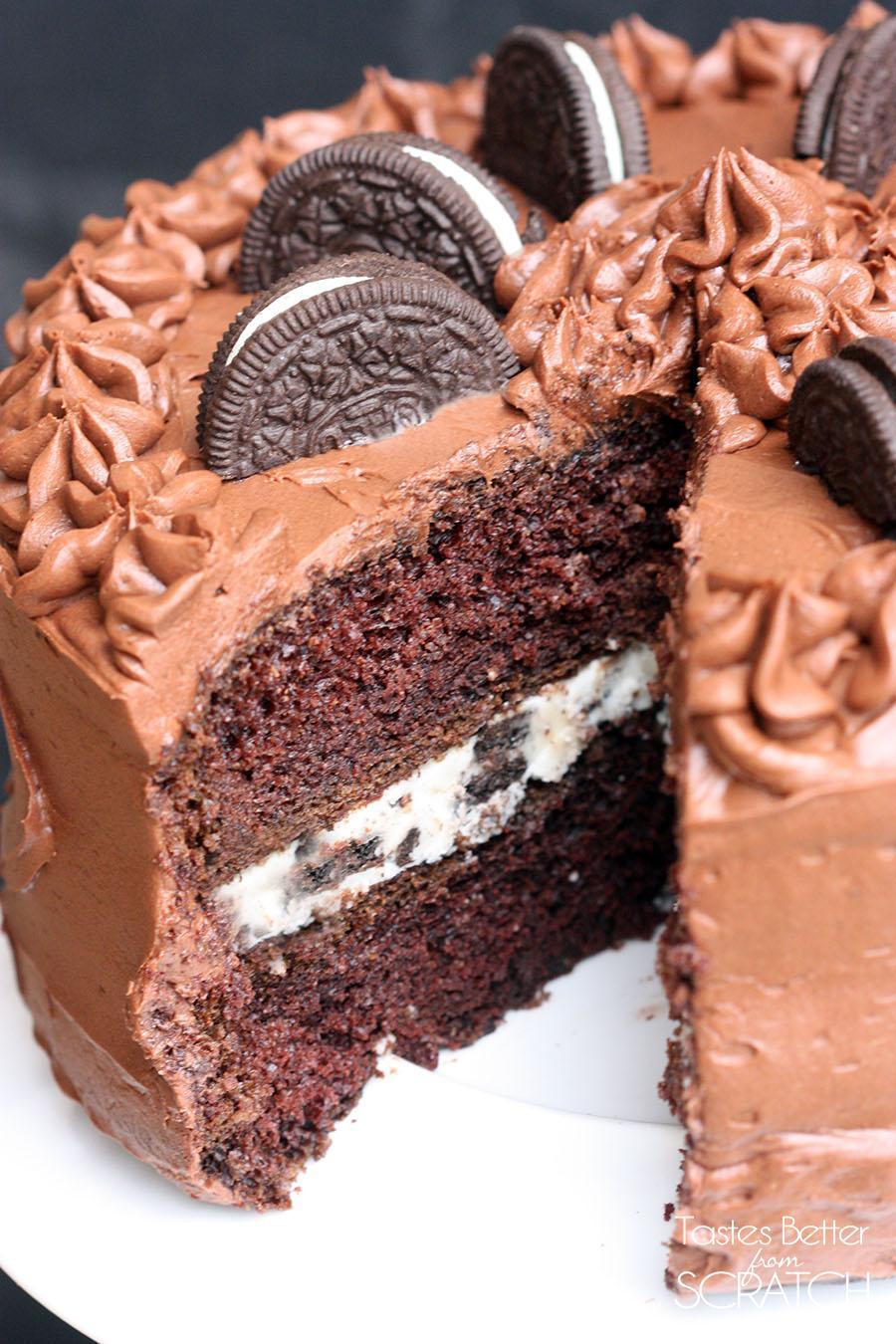 Chocolate Cake Filling  Chocolate Cake with Oreo Cream Filling Tastes Better