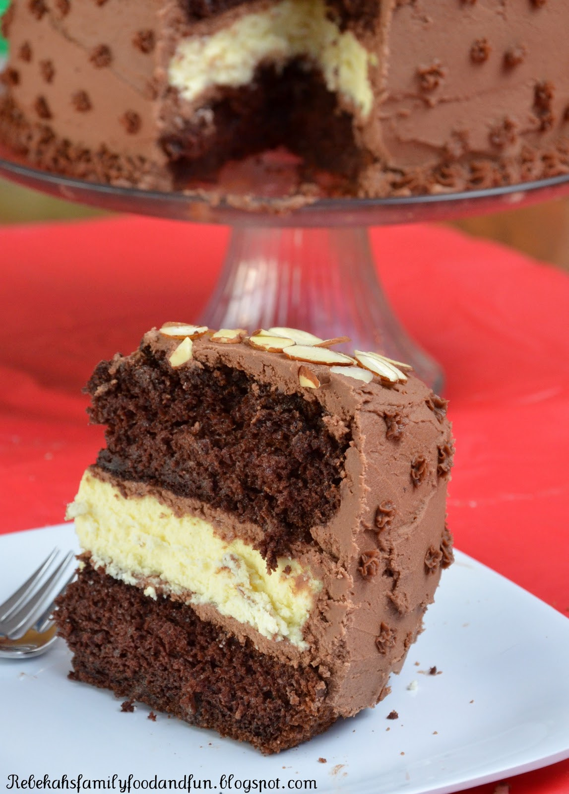 Chocolate Cake Filling  Family Food and Fun Chocolate Layer Cake with