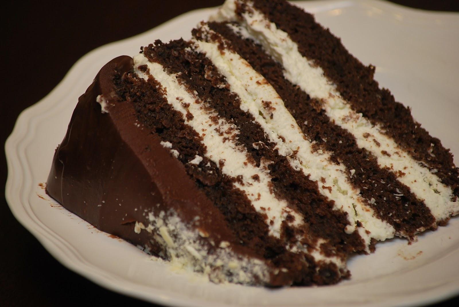 Chocolate Cake Filling  My story in recipes Dark Chocolate Birthday Cake