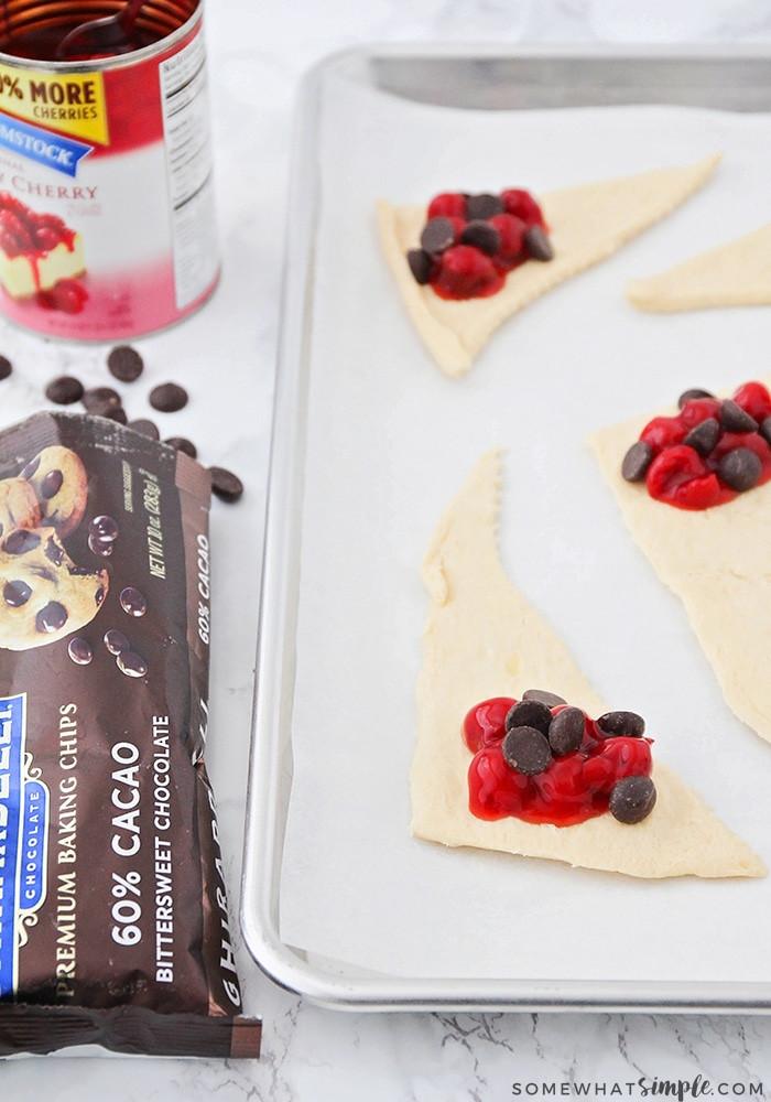 Chocolate Cherry Dessert  3 Ingre nt Chocolate Cherry Dessert Croissants