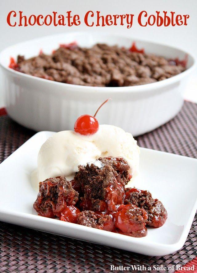 Chocolate Cherry Dessert  Chocolate Cherry Cobbler love this bination recipe