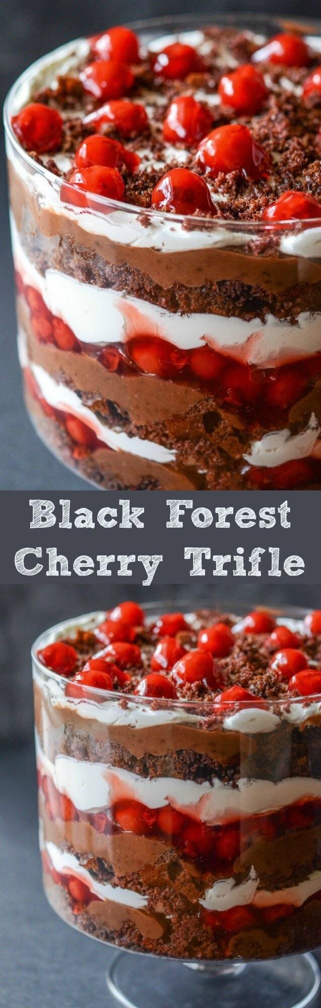 Chocolate Cherry Dessert  chocolate cherry trifle dessert