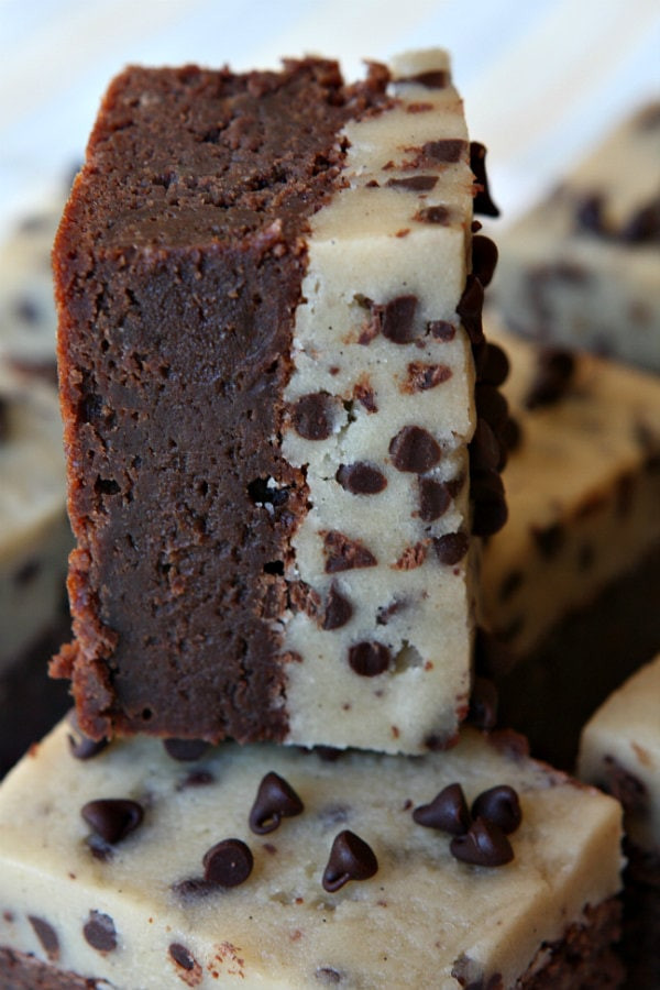Chocolate Chip Cookie Brownies  Chocolate Chip Cookie Dough Brownies Recipe Girl