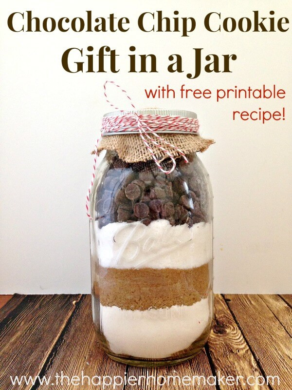 Chocolate Chip Cookies In A Jar  Easy Chocolate Chip Cookie Mix in a Jar Gift and Free