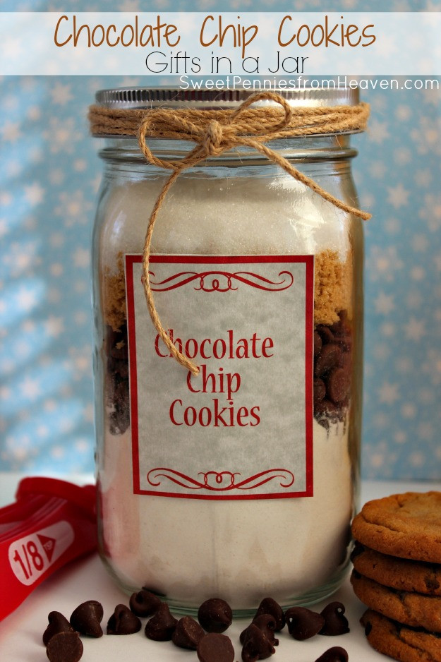 Chocolate Chip Cookies In A Jar  Chocolate Chip Cookies Gifts in a Jar Recipe Frugal Gift