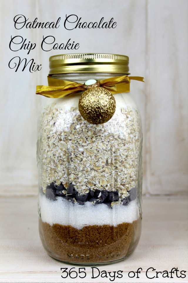 Chocolate Chip Cookies In A Jar  Oatmeal Chocolate Chip Cookie Mix
