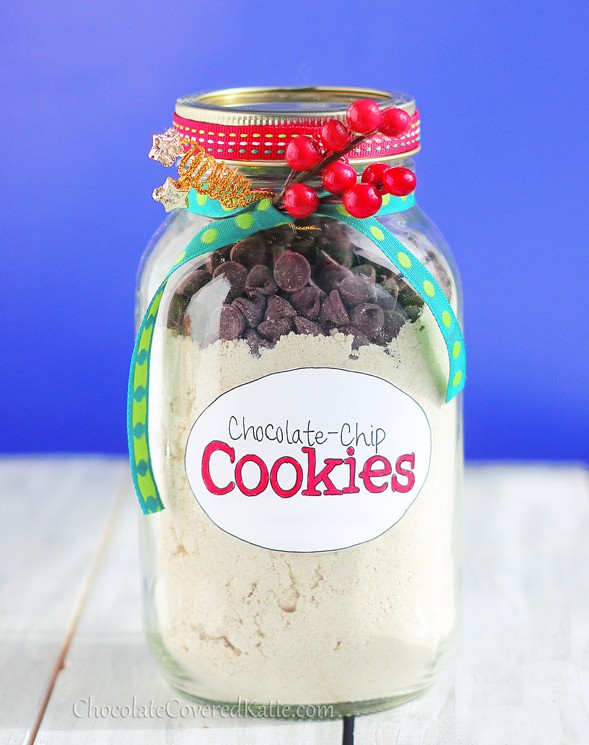 Chocolate Chip Cookies In A Jar  Healthy Chocolate Chip Cookies in a Jar