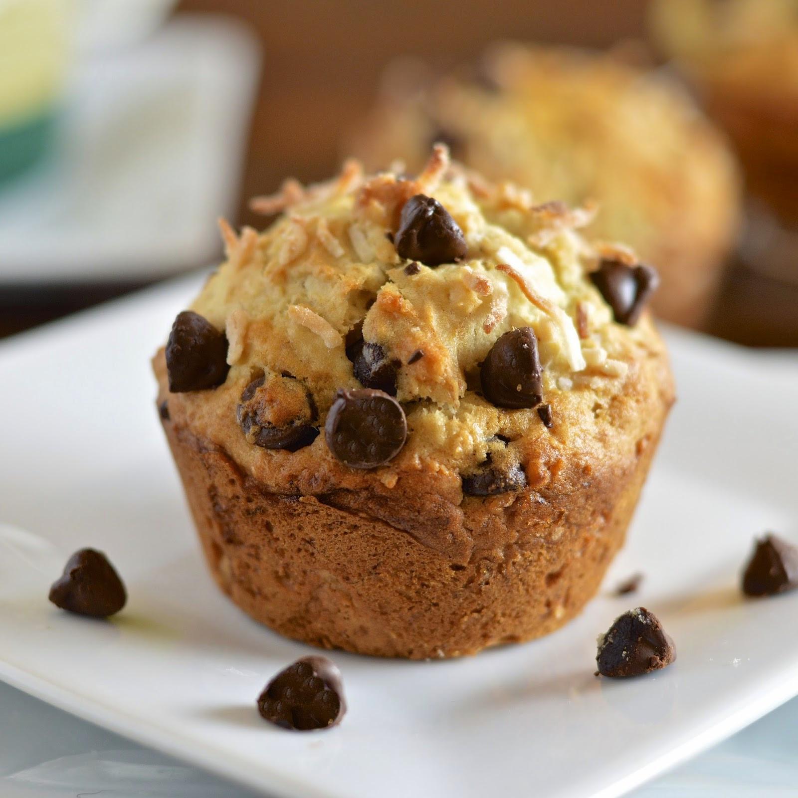 Chocolate Chip Muffins  Banana Coconut Chocolate Chip Muffins