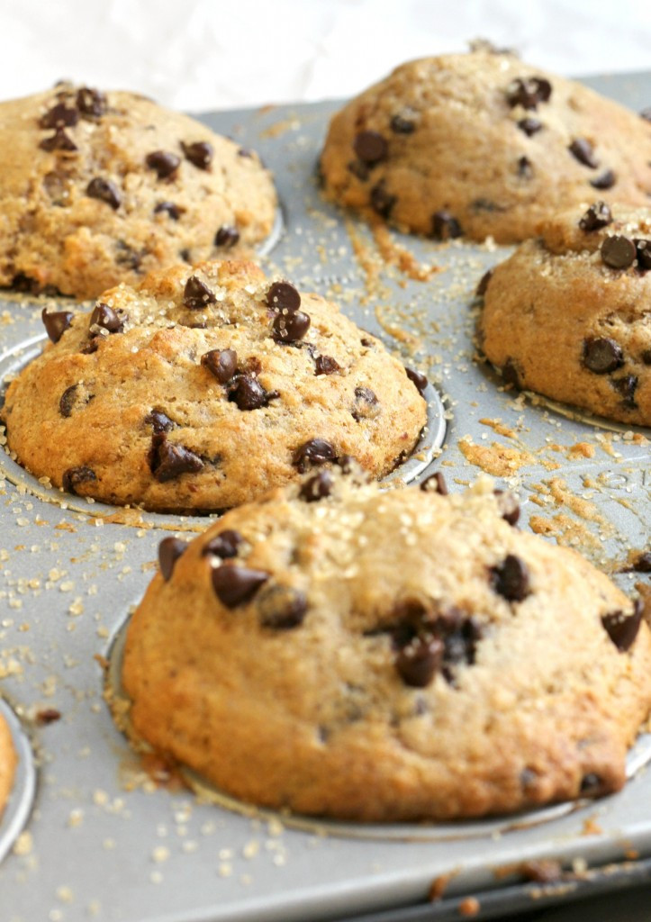Chocolate Chip Muffins  Healthy Chocolate Chip Muffins Bakery Style