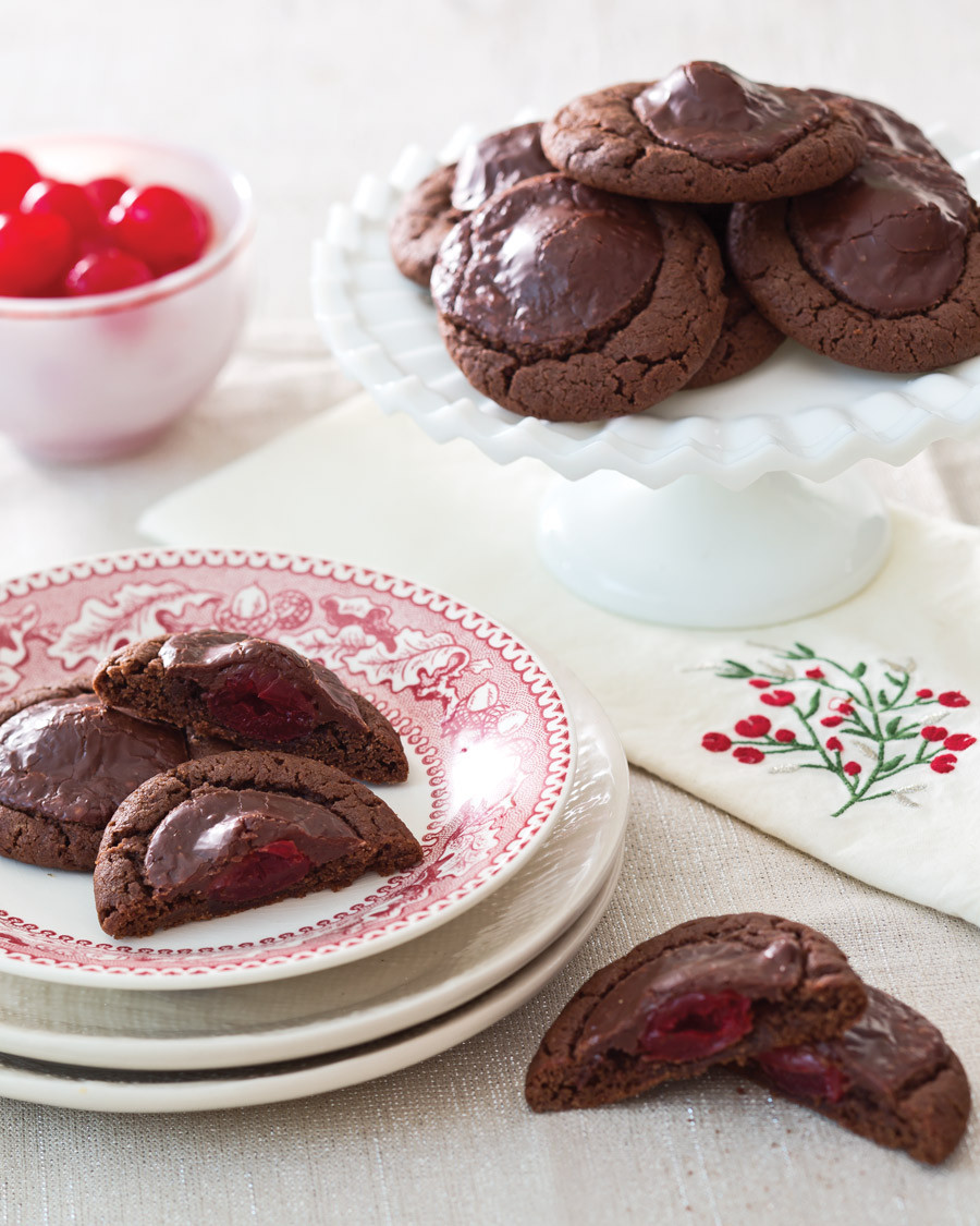 Chocolate Cover Cherry Cookies  Chocolate Covered Cherry Cookies Taste of the South