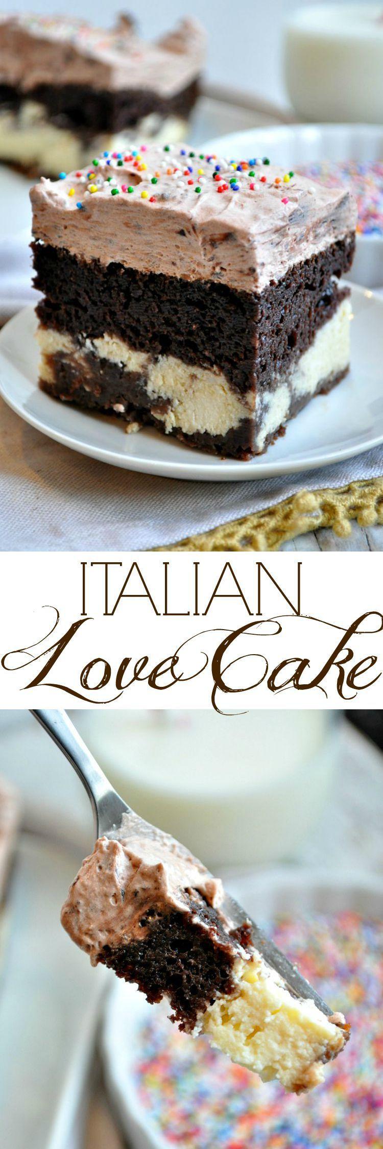 Chocolate Desserts Easy  Easy Chocolate Italian Love Cake Recipe