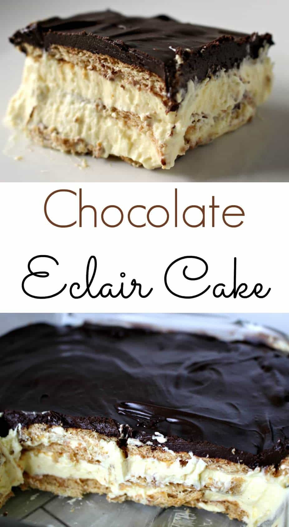 Chocolate Desserts Easy  The Easiest Eclair Cake The Perfect No Bake Dessert