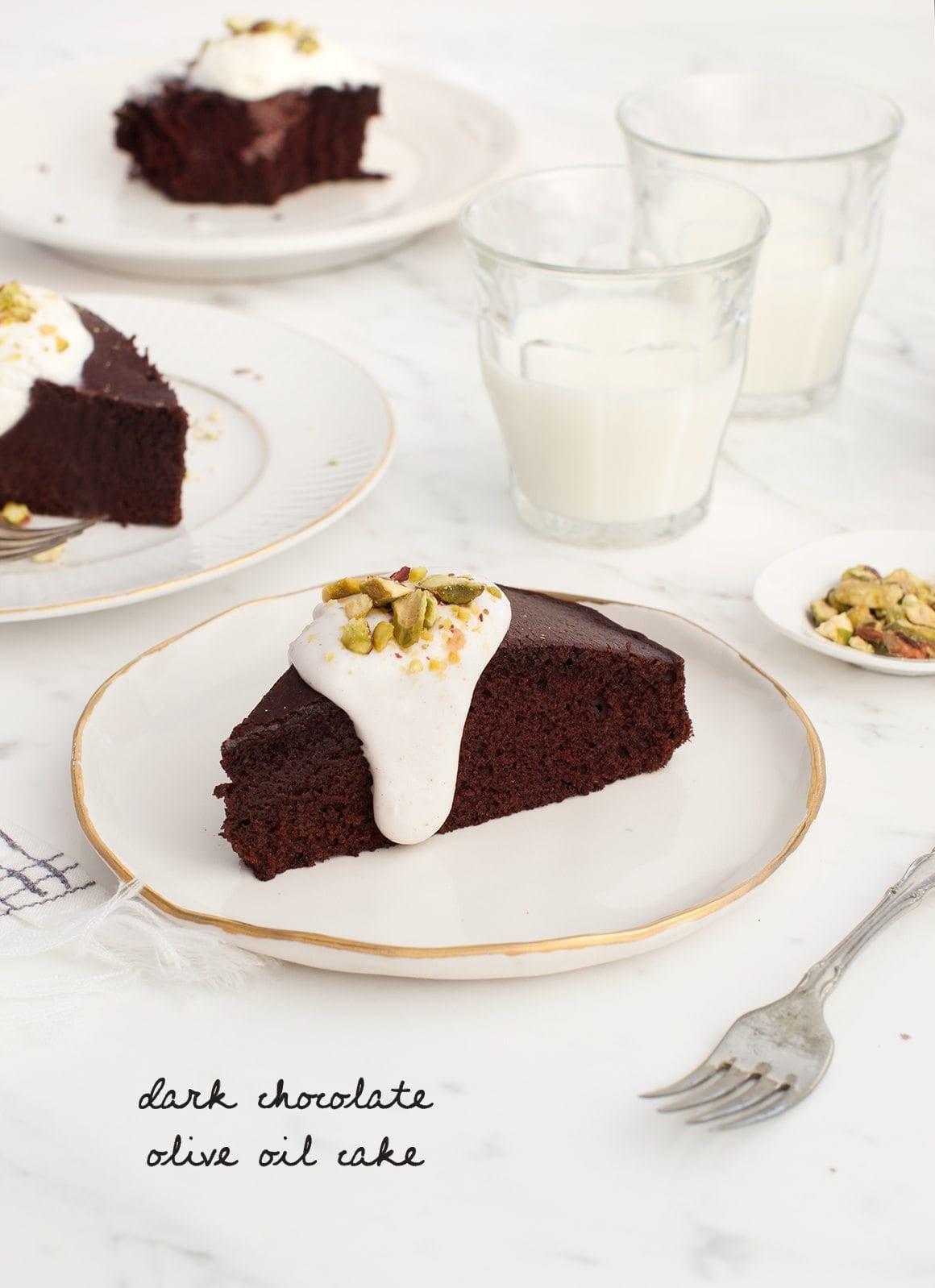 Chocolate Olive Oil Cake  Dark Chocolate Olive Oil Cake Recipe Love and Lemons