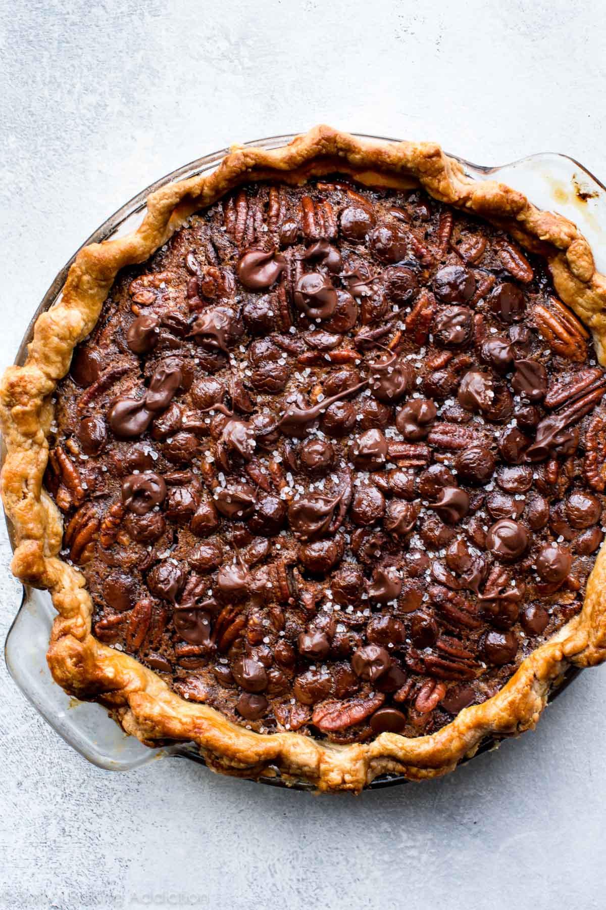 Chocolate Pecan Pie  Dark Chocolate Pecan Pie Sallys Baking Addiction