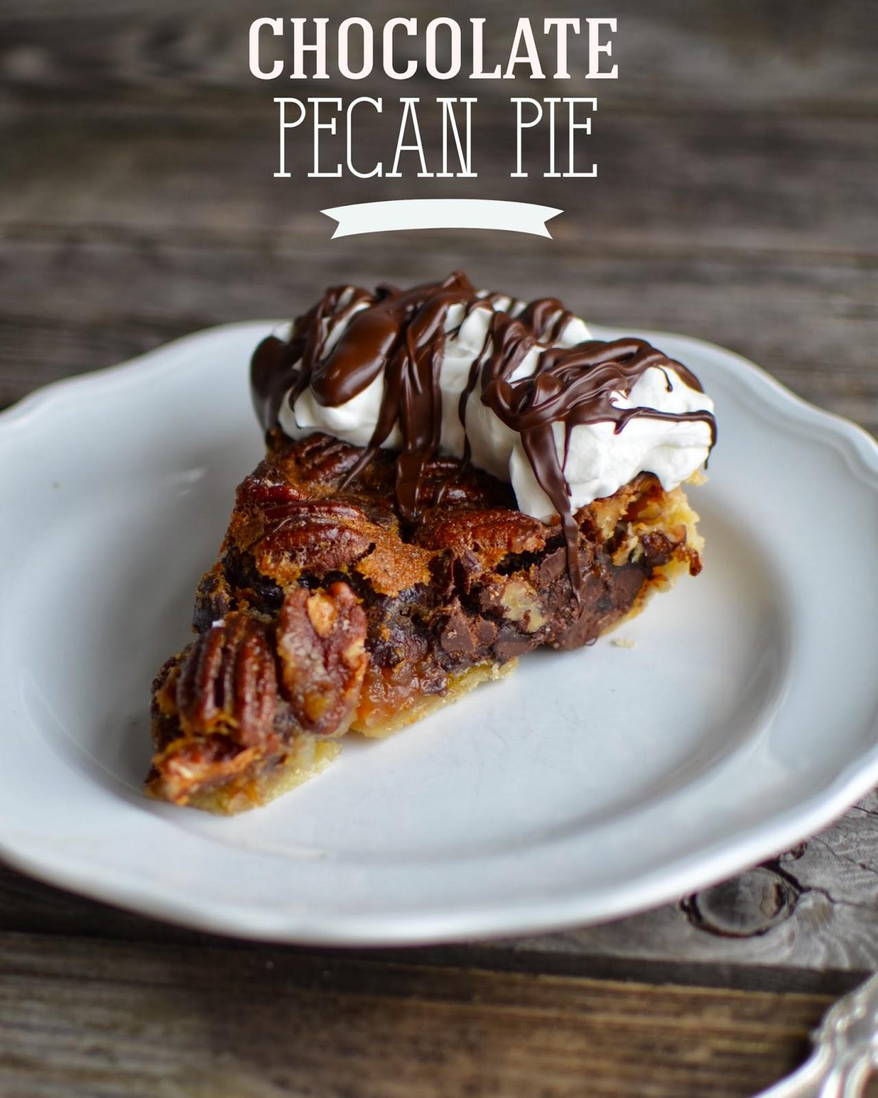Chocolate Pecan Pie  Yammie s Noshery Chocolate Pecan Pie