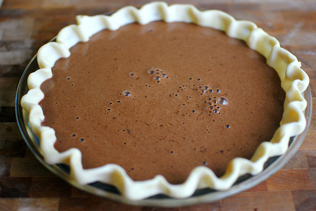 Chocolate Pie With Cocoa  Easy Chocolate Pie