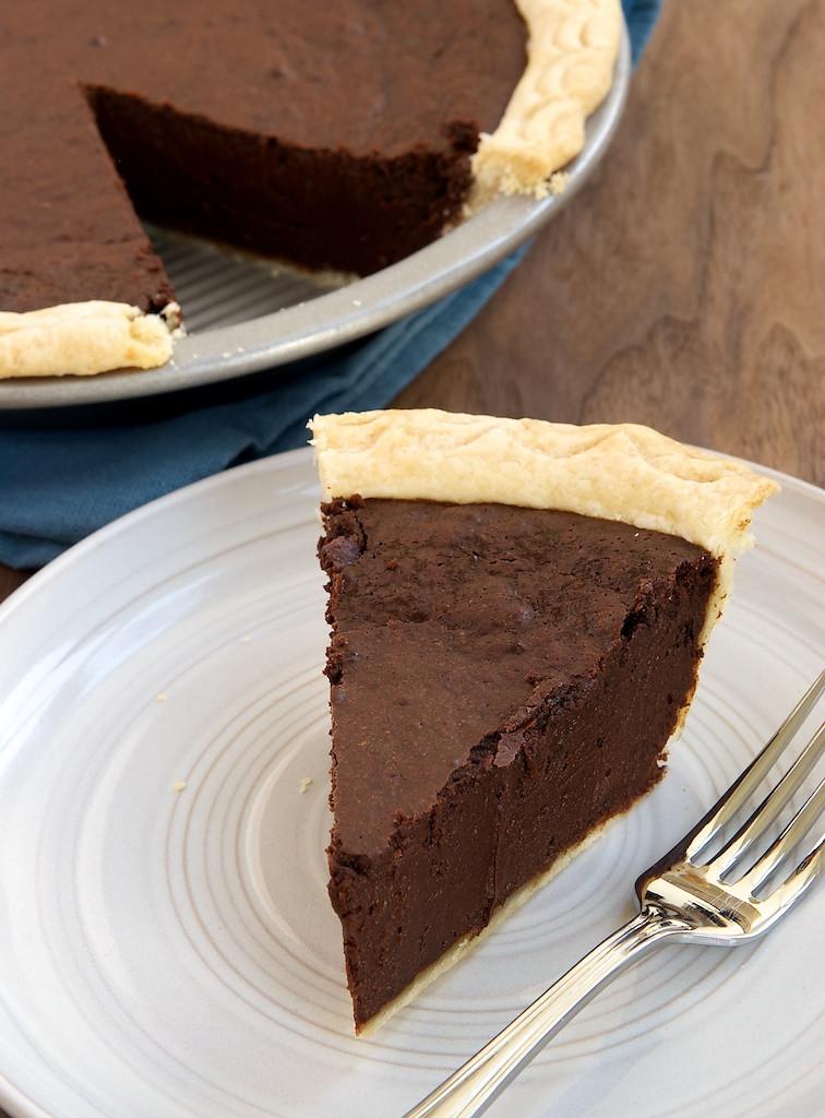 Chocolate Pie With Cocoa  Hot Fudge Pie Bake or Break