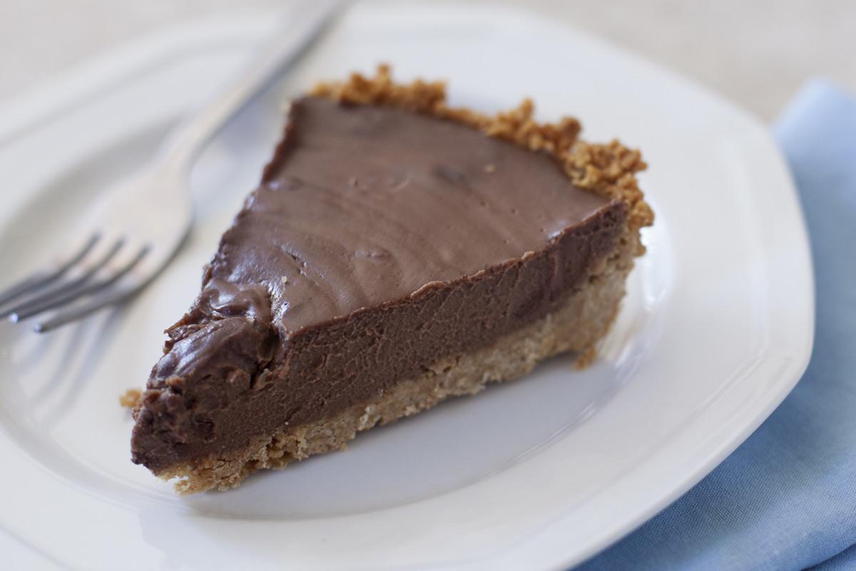 Chocolate Pie With Cocoa  Vegan Chocolate Coconut Cream Pie