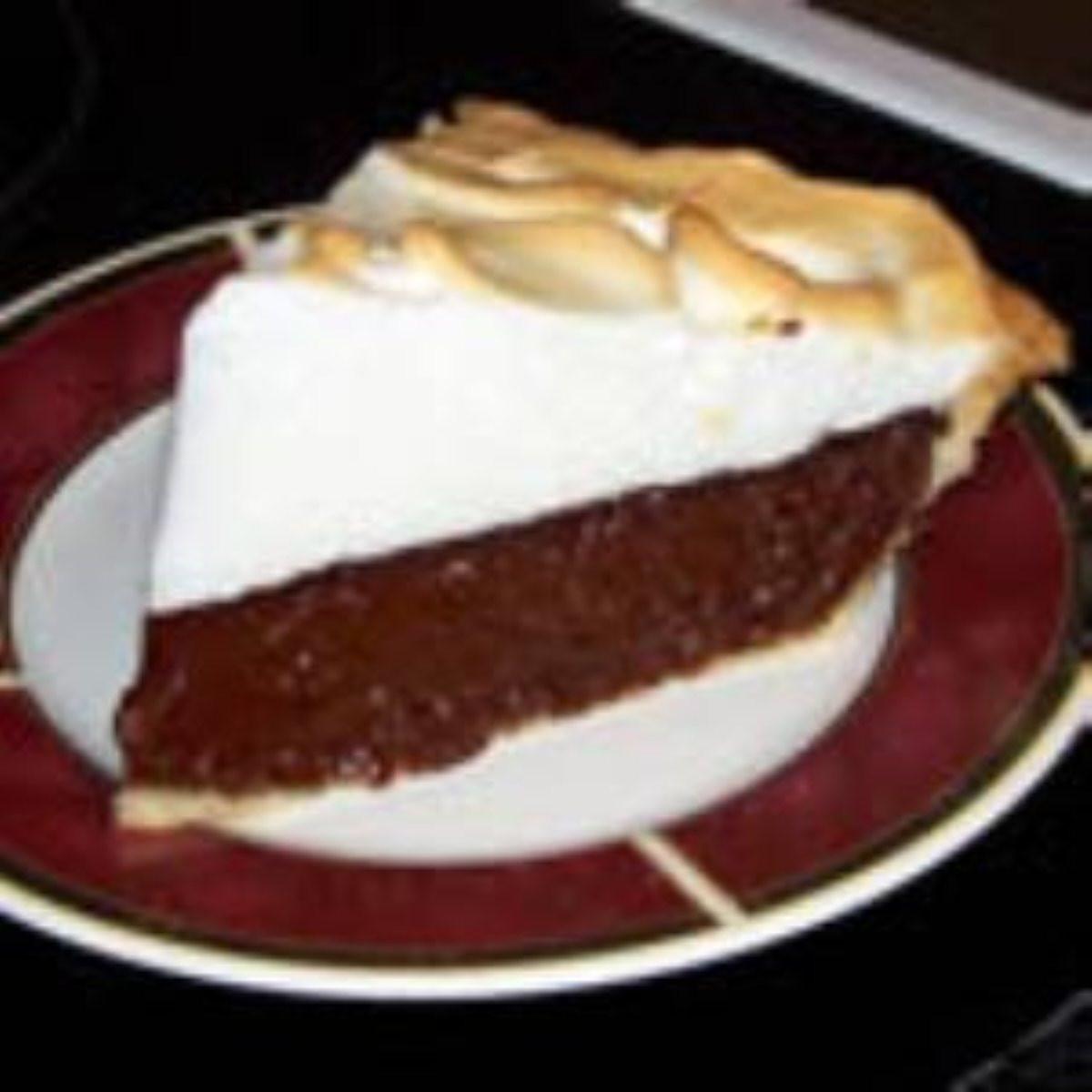 Chocolate Pie With Cocoa  Vern s Chocolate Pie BigOven