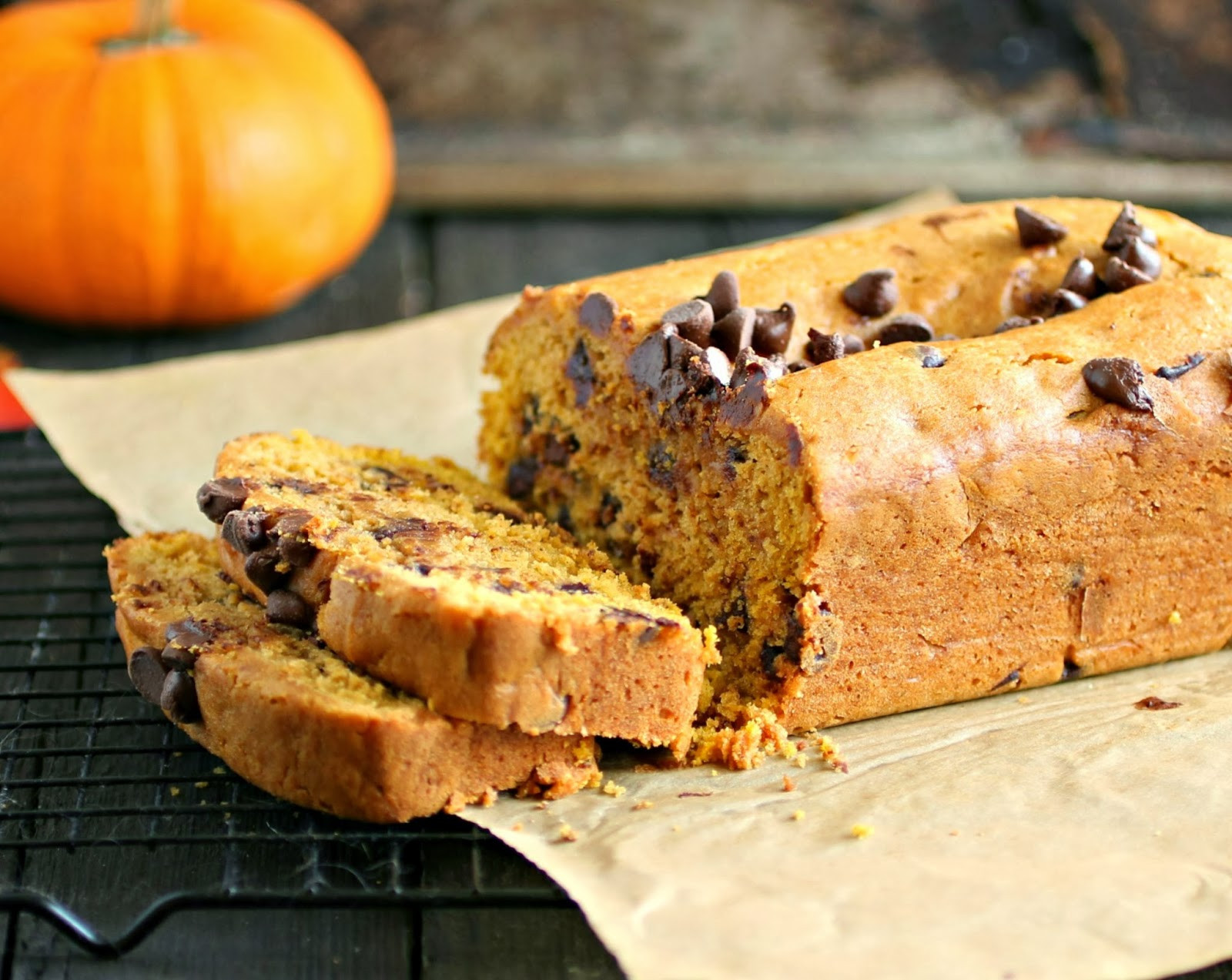 Chocolate Pumpkin Bread  Hungry Couple Pumpkin Chocolate Chip Bread