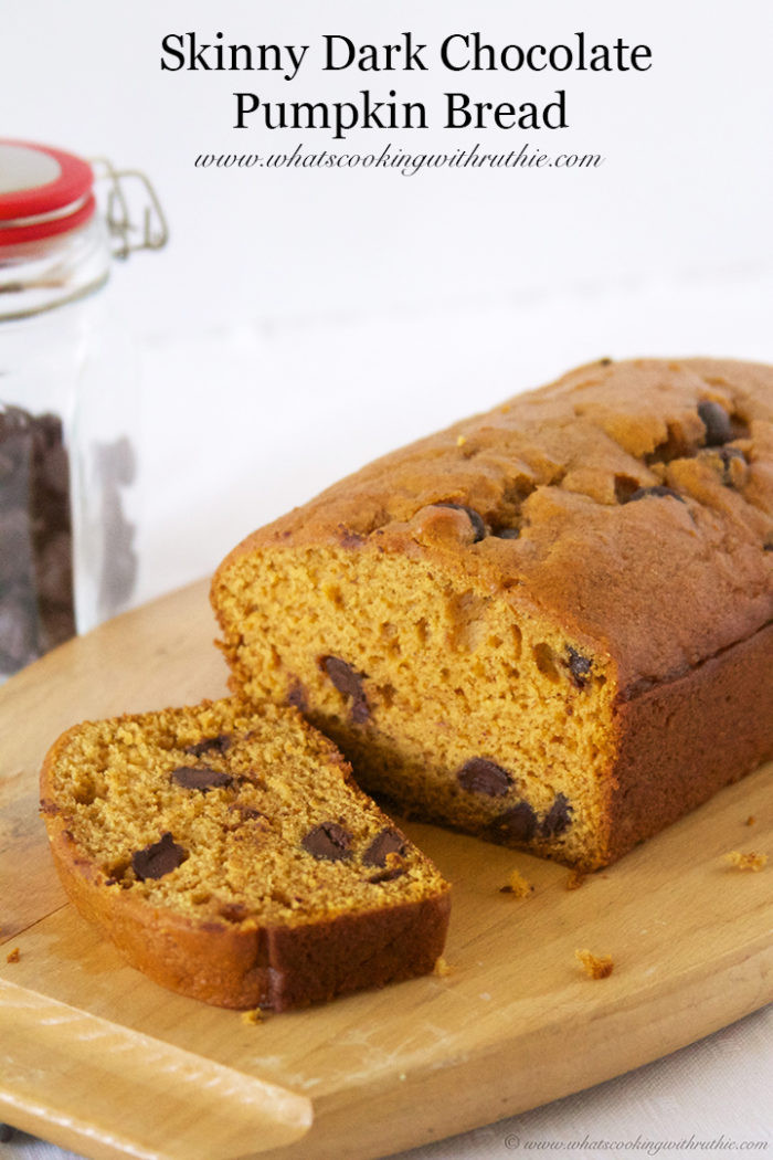 Chocolate Pumpkin Bread  Skinny Dark Chocolate Pumpkin Bread Cooking With Ruthie