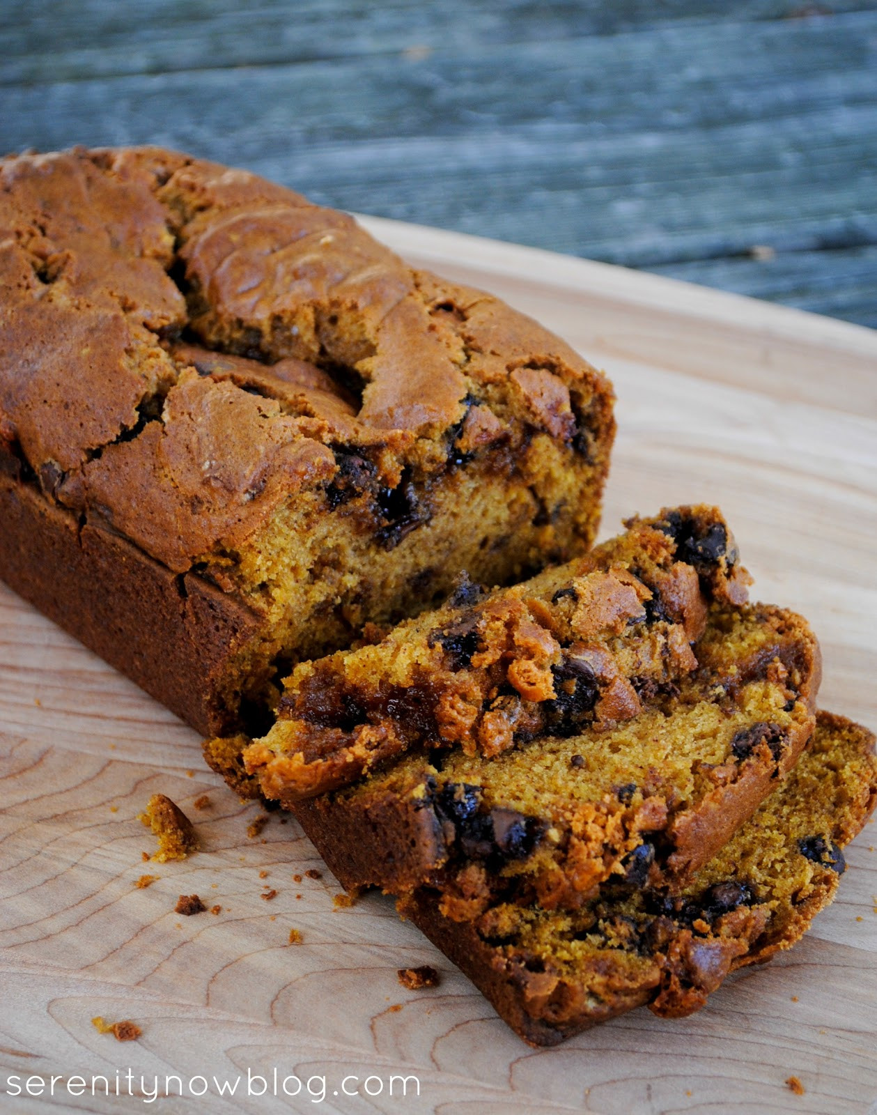 Chocolate Pumpkin Bread  Serenity Now Chocolate and Butterscotch Chip Pumpkin